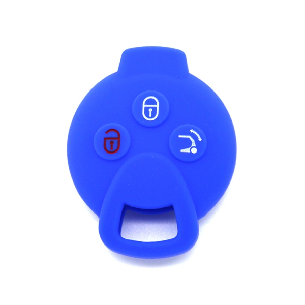 Mercedes Benz Smart,car silicone key shell,blue,high cost performance products