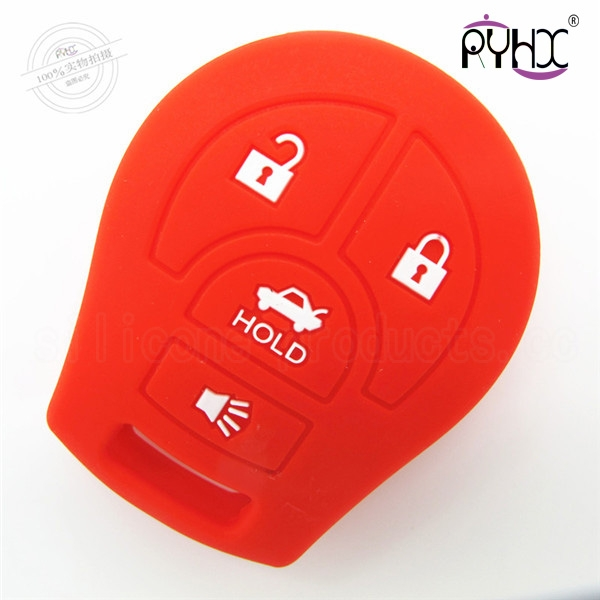 Nissan SYLPHY silicone key shell, cheap car key silicone covers, 4 buttons