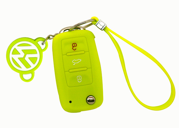 yellow vw key cover
