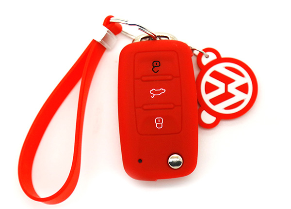red vw key cover